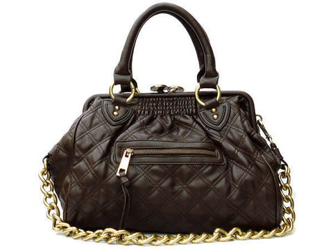 "The Daytime and Evening Quilted Chocolate Brown ""Ana"" Bag"