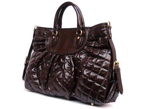Quilted Satchel Handbag