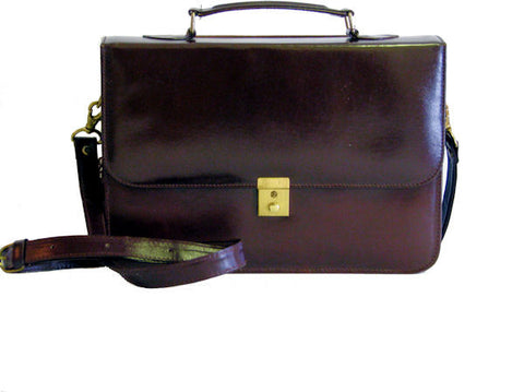 "The ""Kate"" Vintage Inspired Structured Leather Bag"