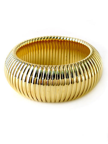 Gold Plated Chunky Bangle