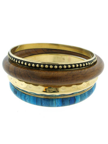 "The Blue ""Rosalie"" Bangle Set"