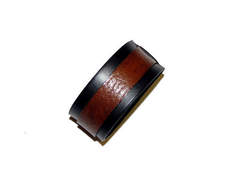 Black & Brown Leather Cuff