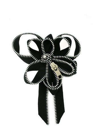 The Exposed Zipper Brooch