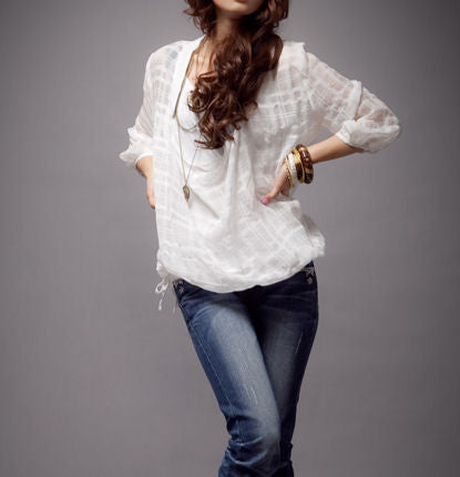 "The ""Alexia"" Chiffon Transparent Blouse"