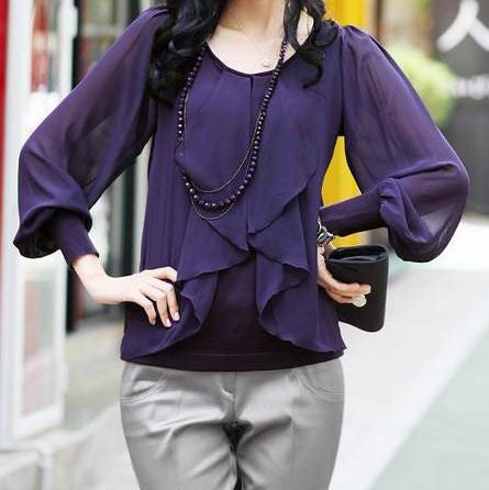 "The ""Drea"" layered Blouse"