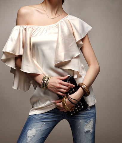 "The ""Carmen"" Satin Blouse"
