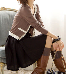 "The ""Keira"" Pleated Cardigan"