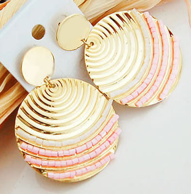 "The ""Melania"" Shell Patterned Earrings"