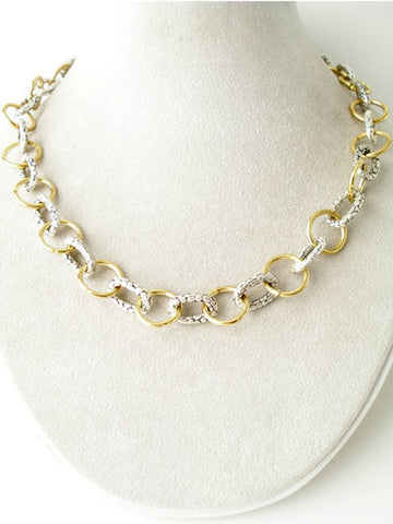Croc-Print Linked Chain