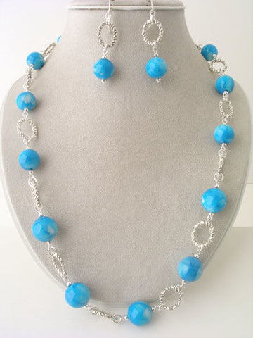 Beaded Link Chain Set
