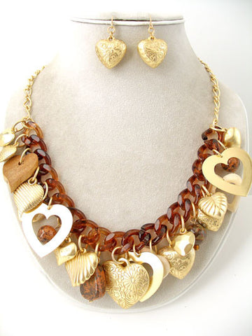 The Chunky Hearts Necklace Set