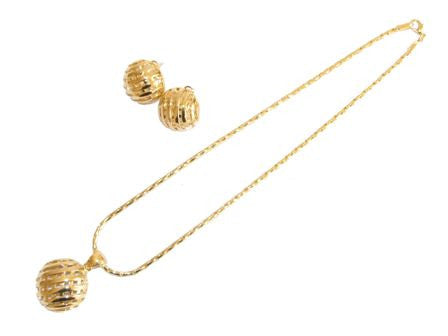 The Basketweave Oval Necklace Set
