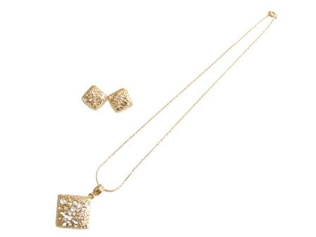 The Diamond Shape Necklace Set