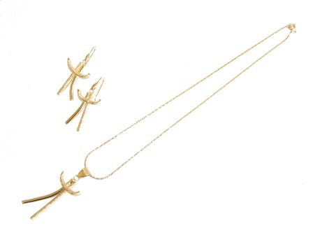 The Stick Figure Necklace Set