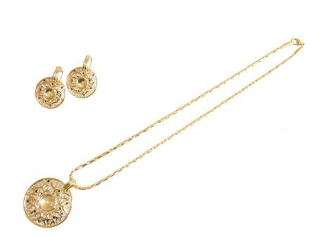 "The Intricate ""Shield"" Necklace Set"
