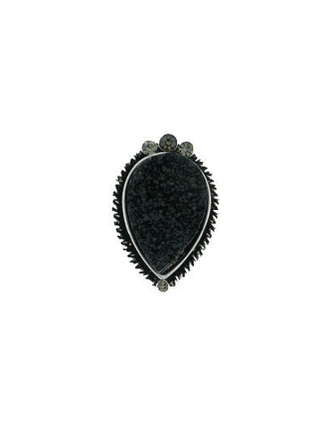 "The Black ""Gigi"" Pear Shaped Cocktail Ring"