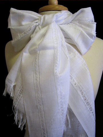 "The White ""Chelsea"" Scarf"