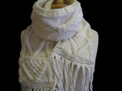 "The Beige ""Joelle"" Winter Hat  & Scarf Set"