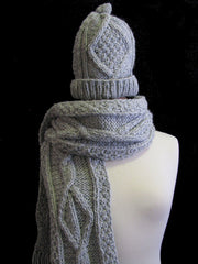 "The Gray ""Lucia"" Winter Hat  & Scarf Set"