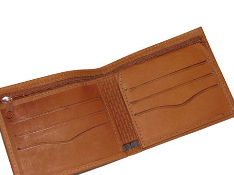 Men's Cognac Leather Wallet