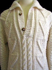 "The Beige ""Cary"" Wool Winter Sweater"