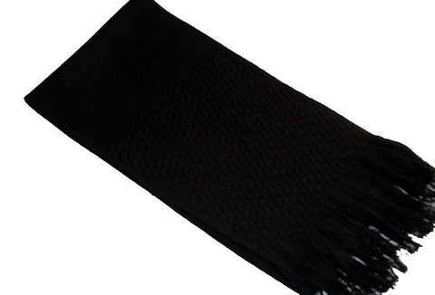 "The Men's Black ""Hadley"" Fringed Scarf"