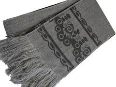 "The Men's Gray ""Finley"" Fringed Scarf"