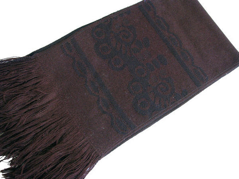 "The Men's Chocolate Brown ""Finley"" Fringed Scarf"