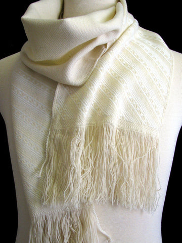 "The Men's Cream""Colton"" Winter Scarf"