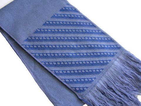 "The Men's Blue Striped ""Gage"" Fringed Scarf"