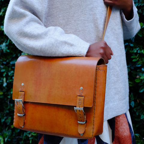 Riley Unisex Handcrafted Leather Messenger Bag