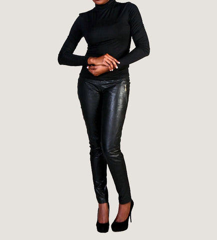 "The ""Pascale"" Highwaisted Skinny Leather Pants"