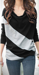 Black Longsleeve Striped Blouse