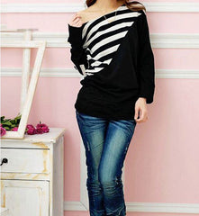 Striped Boatneck Blouse