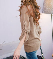 Comfy Chic Khaki Sweater