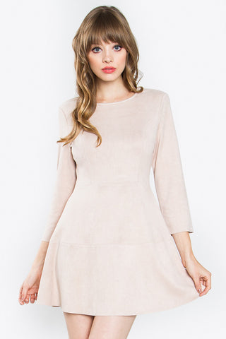 Winnie Faux Suede Dress