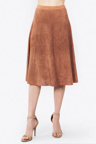 A La Mode Faux Suede Skirt