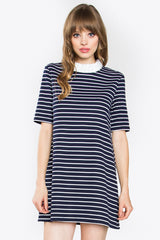 Over The Line Stripe Knit Dress