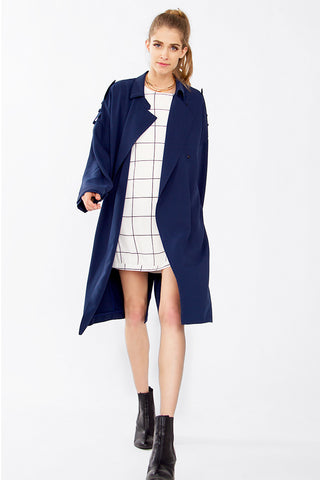In The Trenches Oversized Coat
