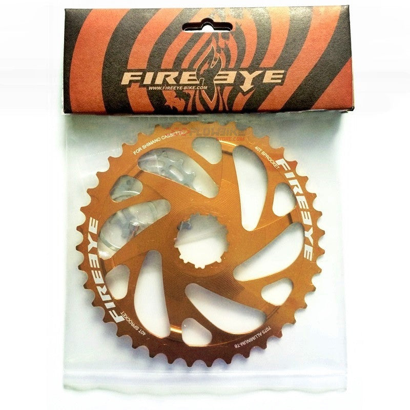 FIREEYE EF 40T SM SPROCKET ORANGE - Bike technics