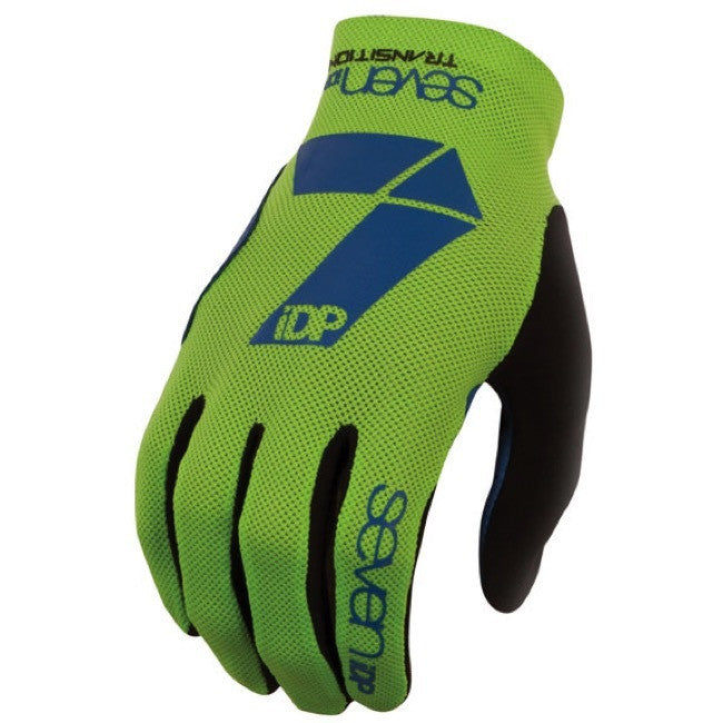 7IDP TRANSITION GLOVE LIME NAVY SIZE M - Bike technics