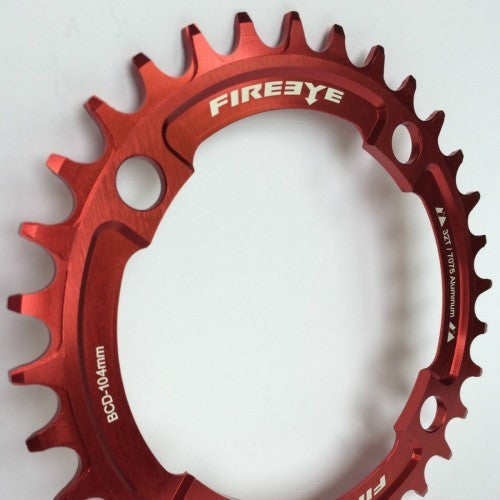 FIREEYE FE N-W CHAIN RING 32T RED - Bike technics