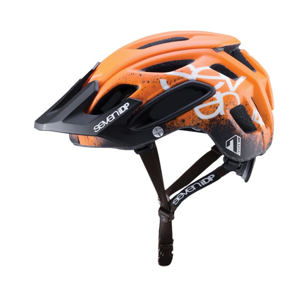 7iDP Helmet M2 Gradient ORANGE/BLACK/WHITE XS/S