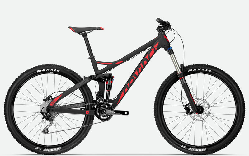 DEVINCI Frameset TROY S SIZE M ALUM BLACK/RED/COAL