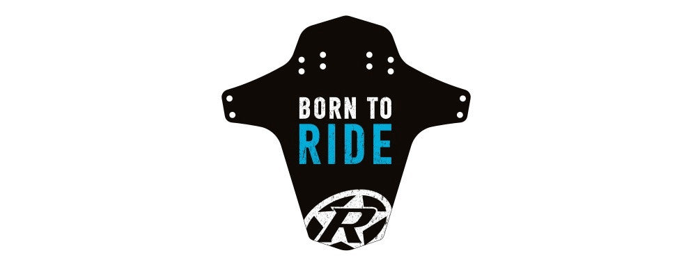 REVERSE MUD GUARD-BORN TO RIDE LIGHT BLUE - Bike technics