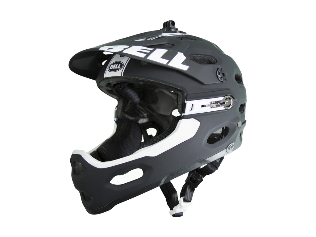 BELL SUPER 2R MATT BLACK/WHITE VIPER SIZE M - Bike technics