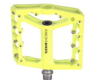 FIREEYE BROIL PEDAL CROMOLY AXLE YELLOW - Bike technics