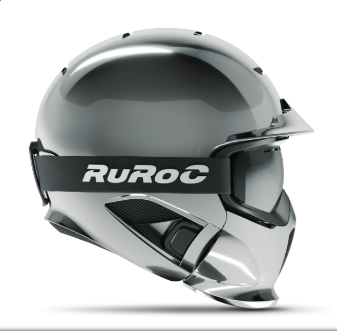 Ruroc Helmet RG1-DX Chrome Asian MEDIUM/LARGE