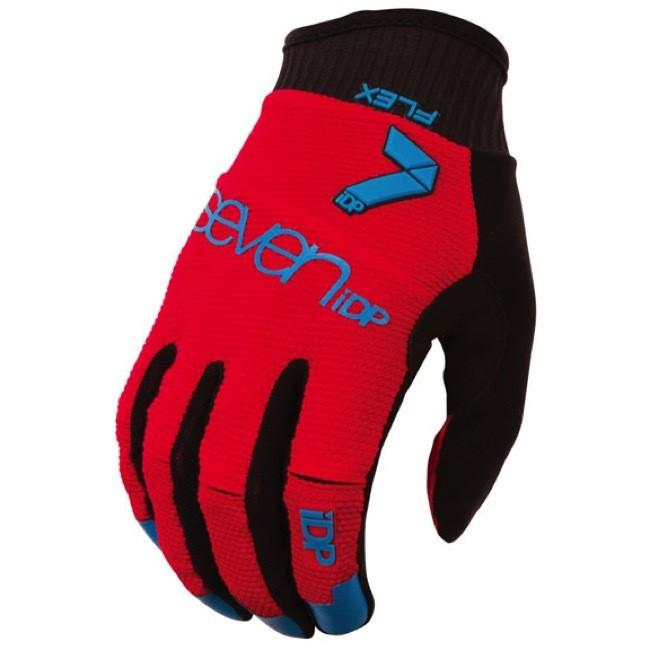 7IDP FLEX GLOVE RED ELECTRIC BLUE SIZE M - Bike technics