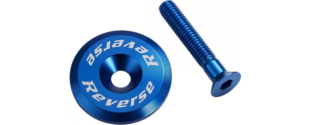 REVERSE HEADSET TOP CAP ALLOY BLUE